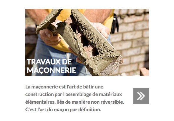 project to create optimized and efficient website designing for a company of masonry construction and brickwork to Montreal
