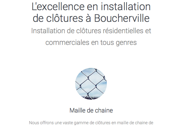 project to create optimized and efficient website design company for installation and repair fences in Boucherville