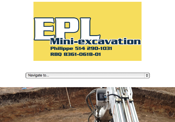 project to create optimized and efficient website design for a mini-excavation company in Boucherville